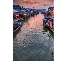 Floating Market Sunset Photographic Print