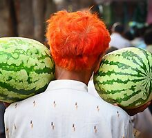 2 Watermelons and 1 Orange by lamiel