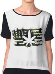 marijuana Chiffon Top