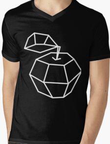 apple. Vector illustration, polygonal design black and white drawing Mens V-Neck T-Shirt