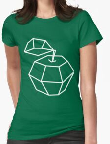 apple. Vector illustration, polygonal design black and white drawing Womens Fitted T-Shirt