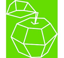 apple. Vector illustration, polygonal design black and white drawing Photographic Print