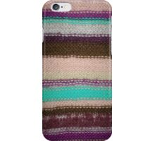 Striped Knit - Purple iPhone Case/Skin