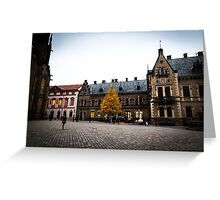 autumn evening in Prague  Greeting Card