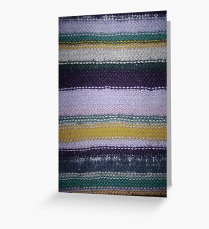 Striped Knit - Yellow Greeting Card