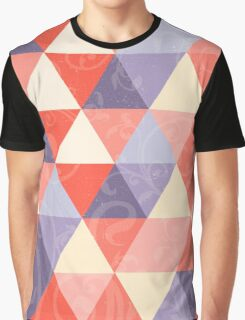 Peaches and Purples Delicate Geometric Pattern Graphic T-Shirt