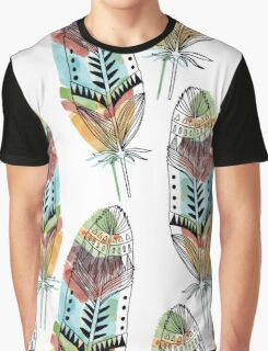 Boho Feathers Graphic T-Shirt