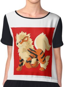 Pokemon Go Arcanine (T-Shirts, Phone cases and more) Chiffon Top