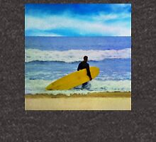 Watercolor painting of a surfer on the beach Unisex T-Shirt