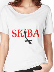 White Matt Skiba Omen Logo T-Shirt Women's Relaxed Fit T-Shirt