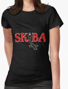 White Matt Skiba Omen Logo T-Shirt Womens Fitted T-Shirt