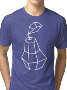 pea Vector illustration, polygonal design black and white drawing Tri-blend T-Shirt