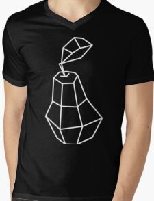 pea Vector illustration, polygonal design black and white drawing Mens V-Neck T-Shirt