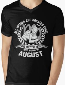 All Women Are Created Equal But Only The Best Are Born in August - Virgo Woman Shirt Mens V-Neck T-Shirt