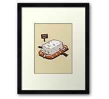 NUDIST FOOD Framed Print