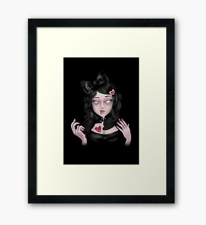 Lolly Zombie | Coffee. . . Brains. . . or Tea? Framed Print