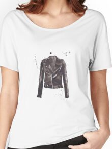 leather jacket Women's Relaxed Fit T-Shirt
