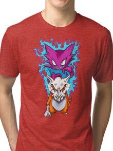 The Haunting -  Cubone & Haunter Fanart Tri-blend T-Shirt