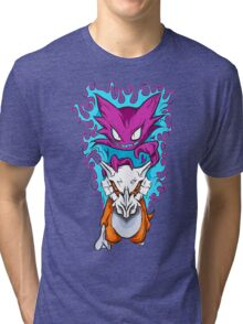 The Haunting -  Cubone & Haunter Fanart Tri-blend T-Shirt