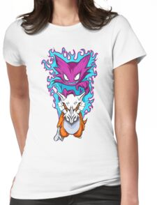 The Haunting -  Cubone & Haunter Fanart Womens Fitted T-Shirt