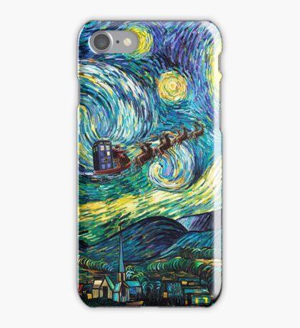 Tardis Santa Starry Night iPhone Case/Skin