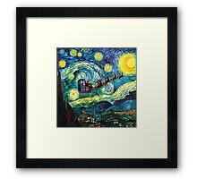 Tardis Santa Starry Night Framed Print