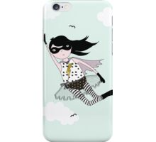 Mighty girl saves the day! iPhone Case/Skin