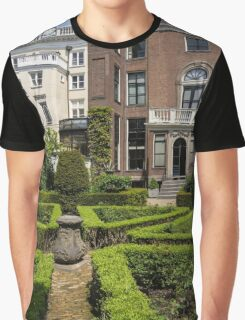 Formal Garden - Sculpted Boxwood Hedges and Period Facades Graphic T-Shirt