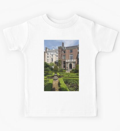 Formal Garden - Sculpted Boxwood Hedges and Period Facades Kids Tee