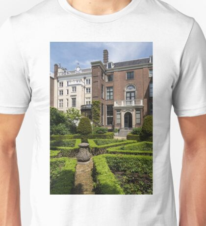 Formal Garden - Sculpted Boxwood Hedges and Period Facades Unisex T-Shirt