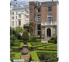 Formal Garden - Sculpted Boxwood Hedges and Period Facades iPad Case/Skin