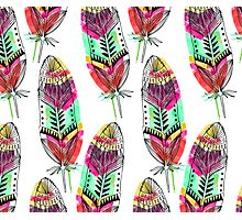 Hippie Feathers Photographic Print