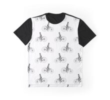 Vintage Bicycle Repeating Pattern  Graphic T-Shirt