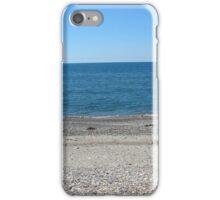 Waves on a rocky beach at sunset. Georgia, Buknary, blak sea iPhone Case/Skin