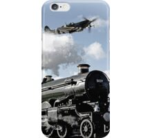 Spitfire and Nunney castle iPhone Case/Skin