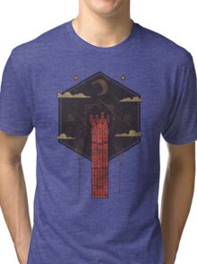 The Crimson Tower Tri-blend T-Shirt