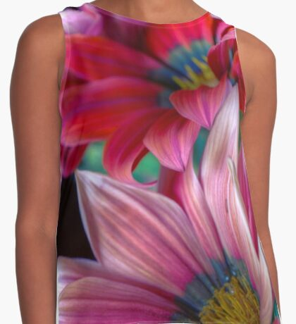 African Daisies 3 Contrast Tank