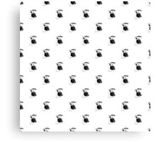 Vintage Telephone Repeating Pattern Canvas Print