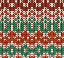Colorful seamless knitting pattern. Warm traditional  texture. Winter wallpaper.  Sticker
