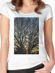 Magestic Tree Closeup Women's Fitted Scoop T-Shirt