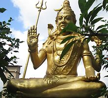 Golden God Shiva in Early Bali Sunlight by Keith Richardson