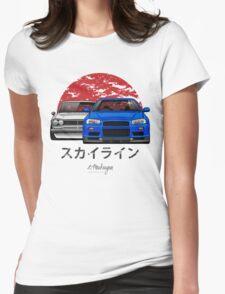 Nissan Skyline (R34 & Hakosuka) Womens Fitted T-Shirt