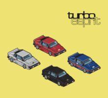 8 bit Lotus Esprit Turbo Pixel (black logo)  by RichardKSavage