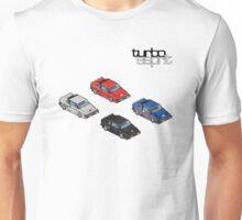 8 bit Lotus Esprit Turbo Pixel (black logo)  Unisex T-Shirt