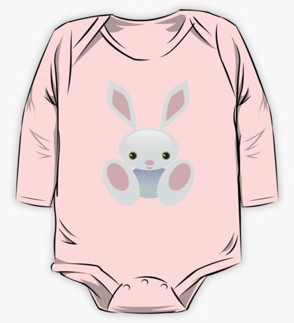 Little Blue Baby Bunny - The Wisley One Piece - Long Sleeve