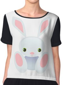 Little Blue Baby Bunny - The Wisley Chiffon Top