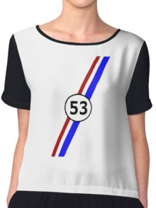 VW 53, the Love Bug's racing stripes and number 53 Chiffon Top