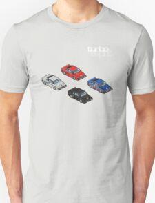 8 bit Lotus Esprit Turbo Pixel (white logo) T-Shirt