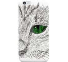 Cat muzzle green eyes iPhone Case/Skin