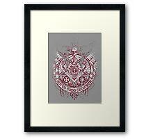 Satanic Masonic 2 (Grunge) Framed Print